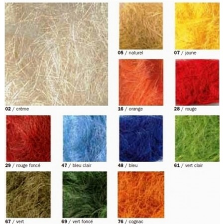 Sisal wool for floral composition, 50 g effect grass