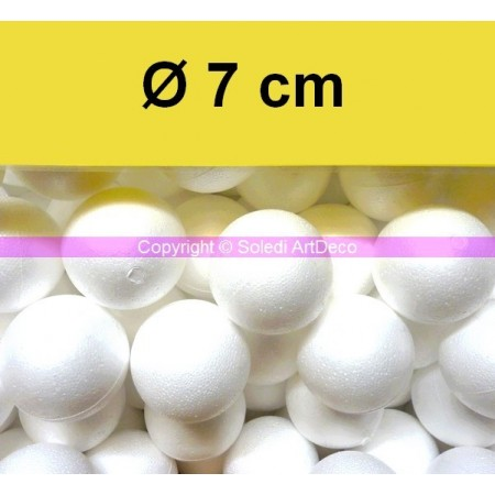 Set of 20 polystyrene balls, diameter 7 cm / 70 mm, high density