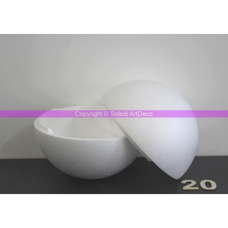 Polystyrene ball separable, diameter 20 cm / 200 mm, high density