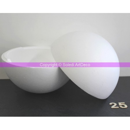 Polystyrene ball separable, diameter 25 cm / 250 mm, high density