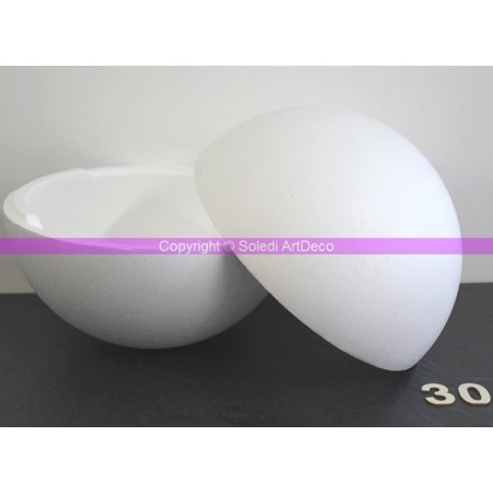 Polystyrene ball separable, diameter 30 cm / 300 mm, high density
