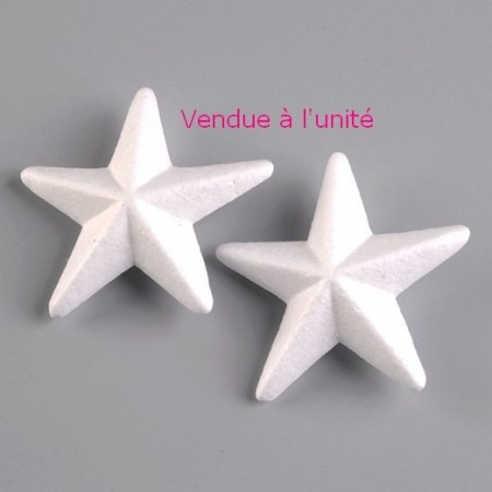 Polystyrene form star angular, 11.5 cm diameter, high density