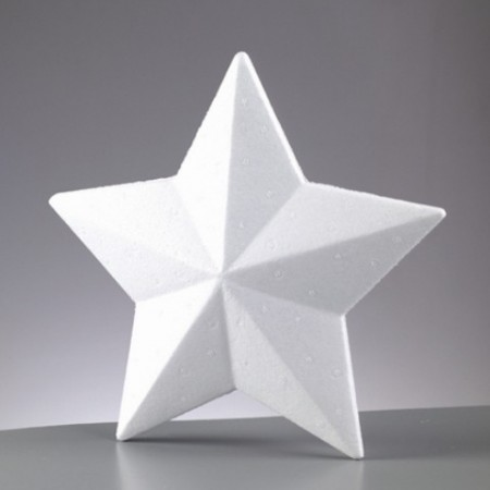 Polystyrene form star, 15 cm diameter, high density