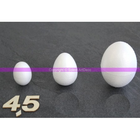Polystyrene egg, 4,5 cm, high density