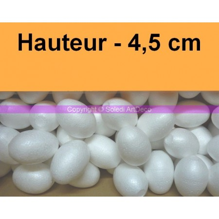 Set of 50 polystyrene eggs, 4.5 cm, high density