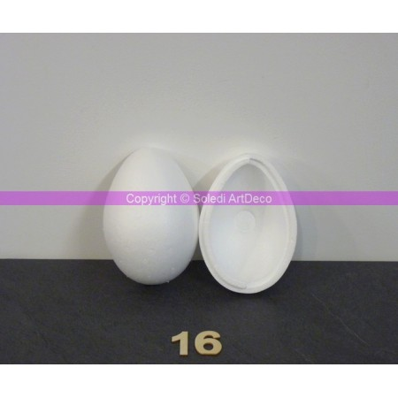 Polystyrene egg, 16 cm, separable, high density