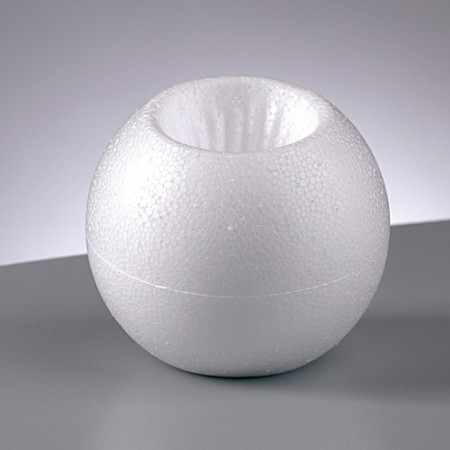Polystyrene form candlestick, diameter 8 cm, high density