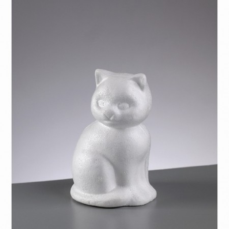 Polystyrene form cat, diameter 13cm, high density
