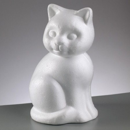 Polystyrene form cat, diameter 24cm, high density
