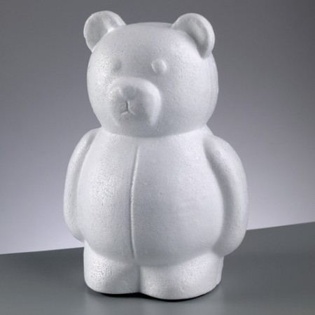 Polystyrene form bear, height 25cm, high density