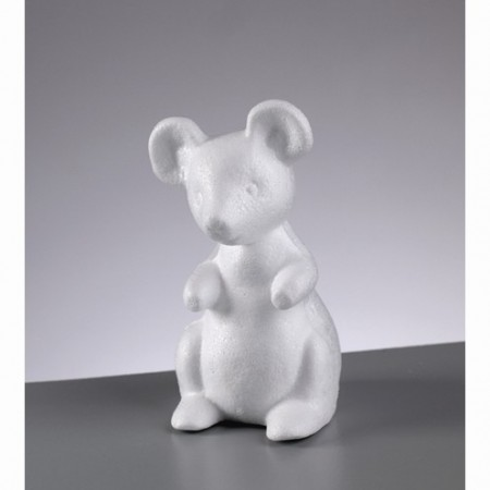 Polystyrene form mouse, 13cm, high density