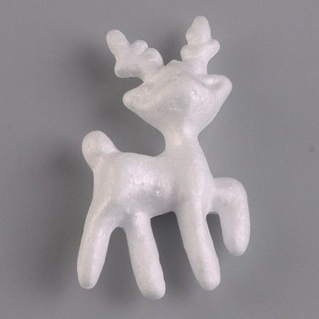 Polystyrene form reindeer, diameter 11cm, high density