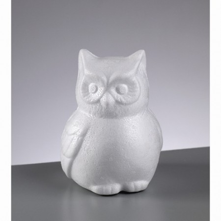Polystyrene form owl, 13cm, high density