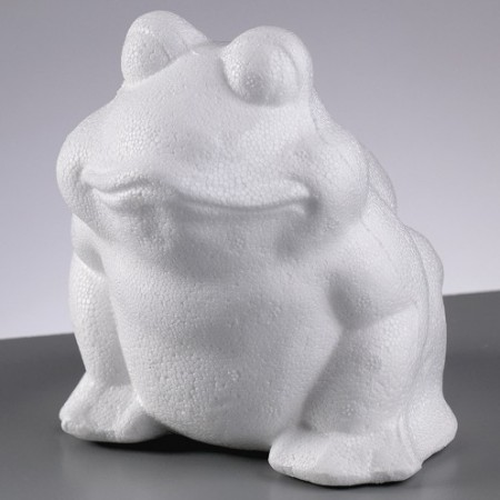Polystyrene form frog, height 13cm, high density
