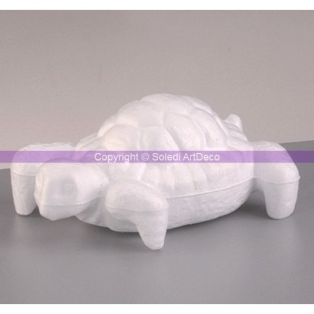 Polystyrene form turtle, length 13cm, height 6cm, high density