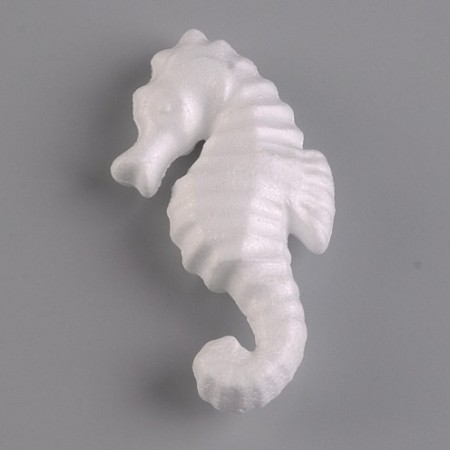 Polystyrene form sea horse, 12cm, high density