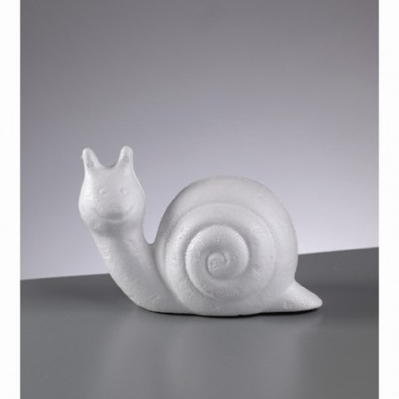 Polystyrene form snail, 13cm, high density