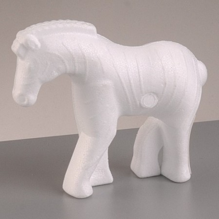 Polystyrene form zebra, 11cm x 14cm, high density