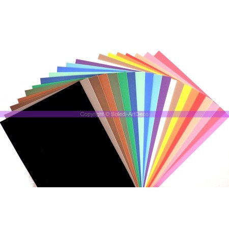 Lot of 20 Rubber foam sheet, 20x30cm, thickness 2mm, all our color chart