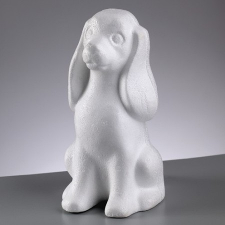 Polystyrene form dog Cocker, 24cm, high density