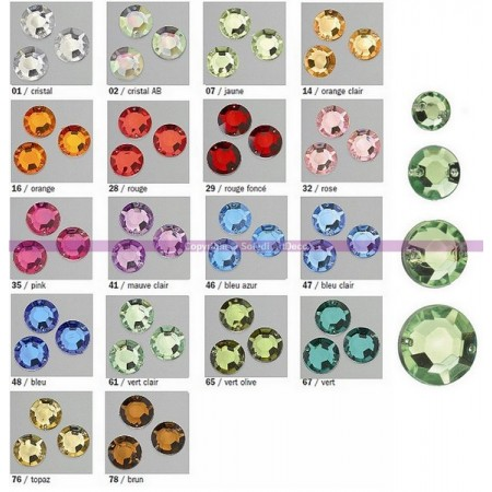 Decorative stone acrylic facet 2 hole gemrose