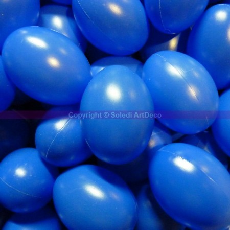 Set of 10 plastic easter eggs, blue, height 6cm