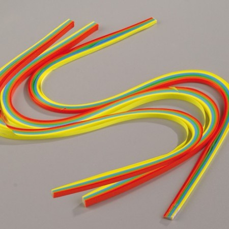 Set of 300 Paper Strips for Quilling, Rainbow Mix, 3mm + 6mm + 9mm, Length 50cm