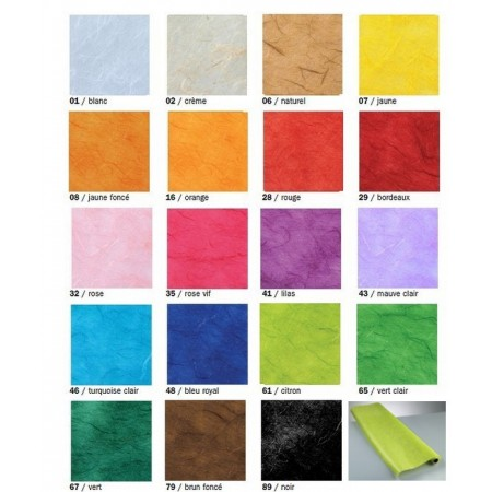 Straw tissue paper, roll 70 x 150 cm fibrous paper, Mulberry 25 g / m²