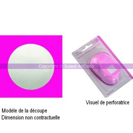 Perforatrice motif Cercle, dimension 2.5 cm