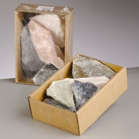 Soapstone, Soft stone of assorted colors, 1.5 kg, soapstone
