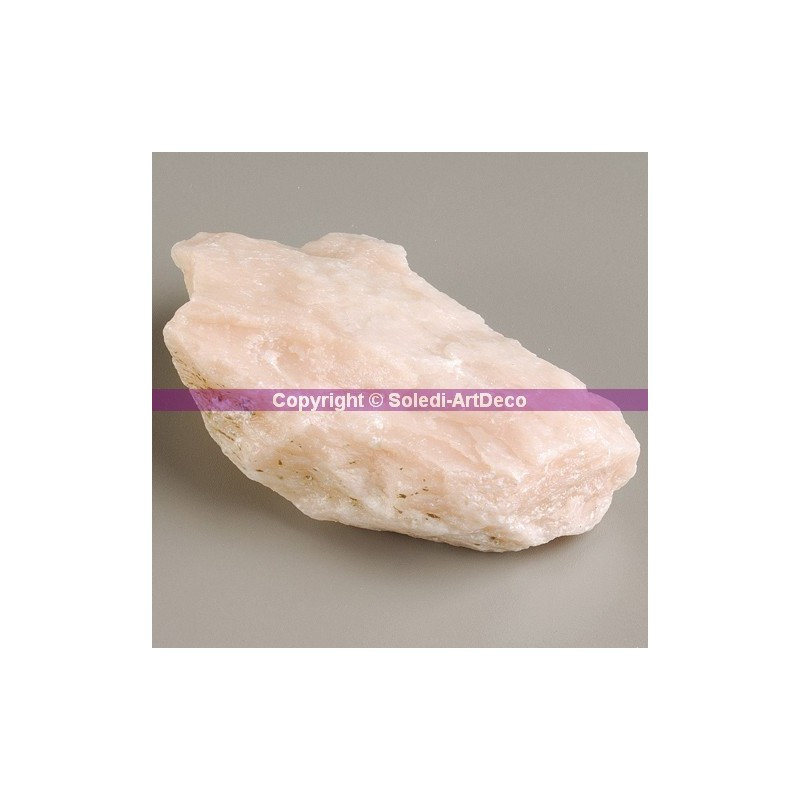 15 kilos of pieces of Soapstone, light pink color, single shrink wrapped