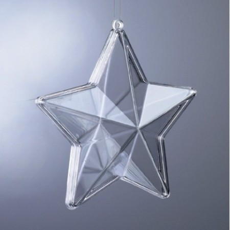 Transparent 3D plastic star, separable, 8cm, for self-filling