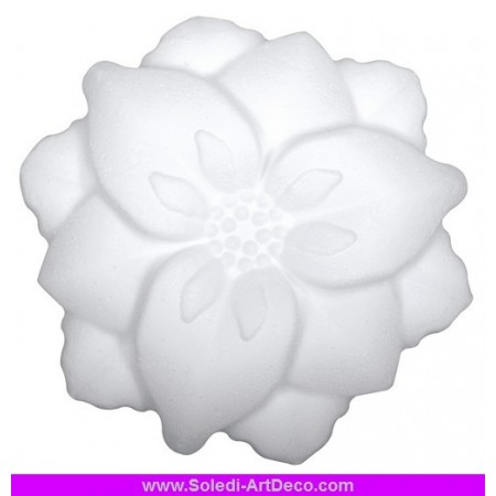 Polystyrene form flower with petals 2D, diameter 14 cm, high density