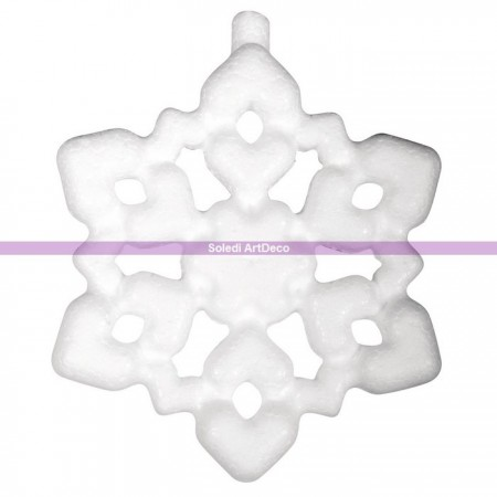 Polystyrene form ice crystal, diameter 7.5 cm, high density