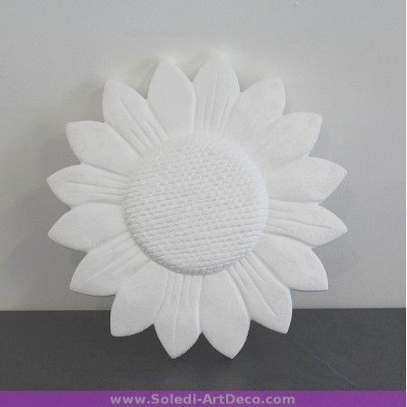 Polystyrene form sunflower, diameter 30 cm, high density