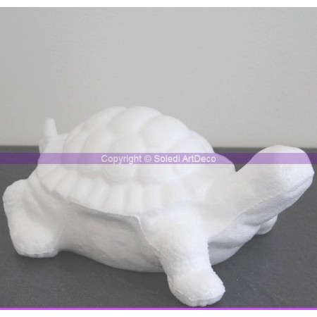 Polystyrene form turtle, 18cm, high density