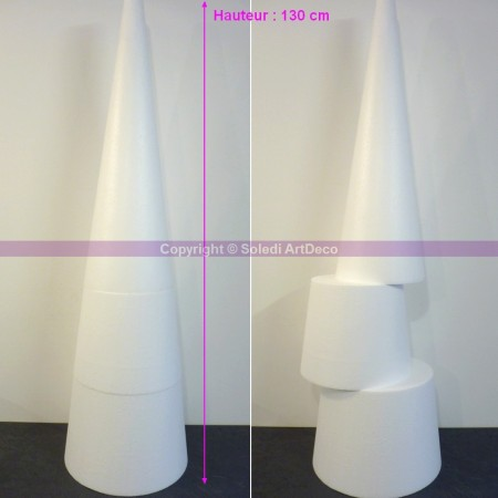Polystyrene Cone XXL 130 cm height, giant display, high density 28 kg/m3