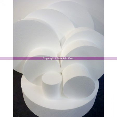 Polystyrene disc, thickness 10 cm, 11 different diameters, High density 28 kg/m3