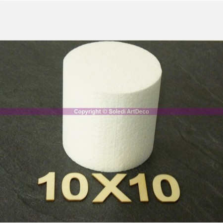 Polstyrene Disk, thickness 10 cm, diameter 10 cm, high density 28 kg / m3