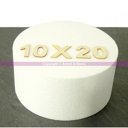 Polystyrene disk, thickness 10 cm, diameter 20 cm, high density 28 kg/m3