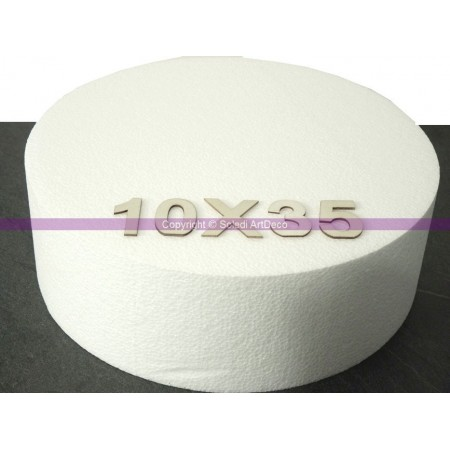 Polystyrene disk, thickness 15 cm, diameter 35 cm, high density 28 kg/m3