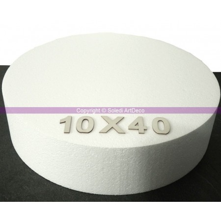 Polystyrene disk, thickness 15 cm, diameter 40 cm, high density 28 kg/m3