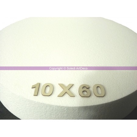 Polystyrene disk, thickness 10 cm, diameter 60 cm, high density 28 kg/m3
