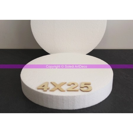 Polystyrene disk, thickness 4 cm, diameter 25 cm, high density 28 kg/m3