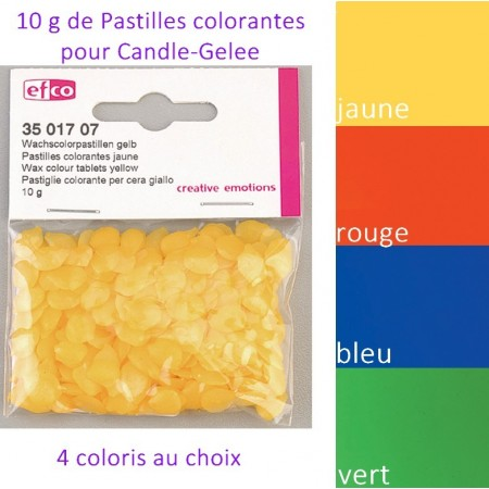 Pastille colorante pour gel de bougie, Colorant Candle-Gelée, 10g