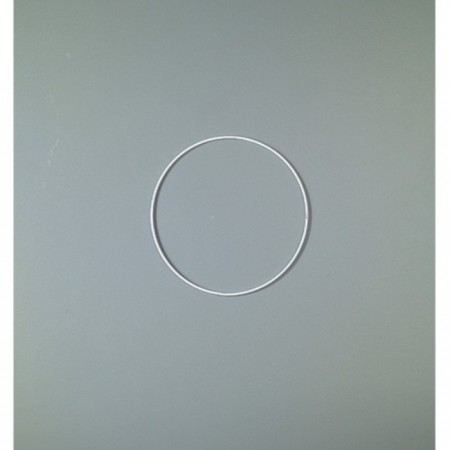 White Metal Circle of 20 cm for Shades, White Epoxy Wire ring for Dream Catcher
