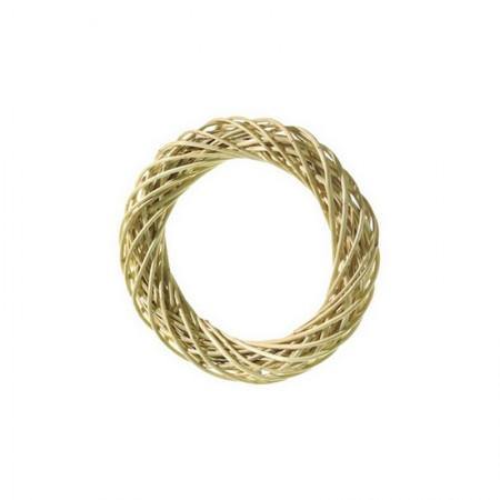 Willow wreath peeled, outer diameter of 10 cm, thickness 1.5 cm
