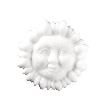 Polystyrene form sun with face, diameter 24cm, thickness 3.5cm, high density