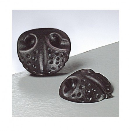 Lot de 4 Nez d'animal à coller, diamètre 20 mm, plastique noir