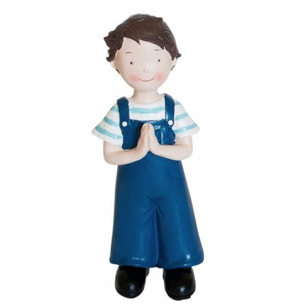 Young Communiant or Baptized, Boy in resin, 15 cm high